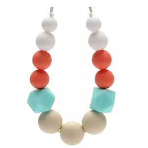 Other - Silicone Teething Necklace Colorful & Geometric